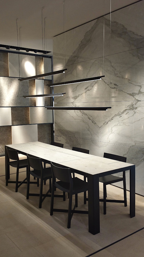 Grassi Pietre srl Tường & sàn phong cách hiện đại Đá hoa White