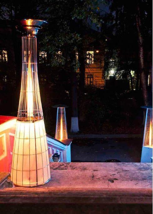 Luxus Terrassen Heizstrahler Lightfire Dolcevita von Italkero RF Design GmbH Moderner Balkon, Veranda & Terrasse Transparent