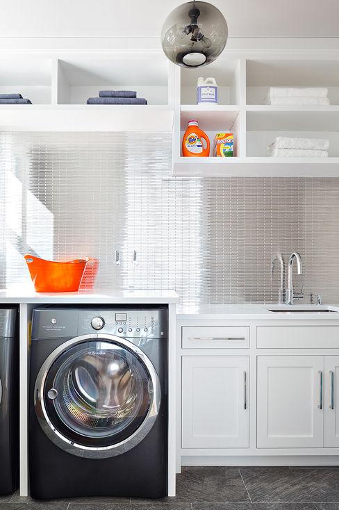 Laundry Room Clean Design Modern corridor, hallway & stairs