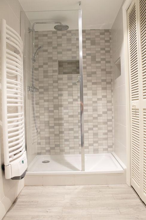 douche Agence ADI-HOME Salle de bain moderne Céramique Blanc