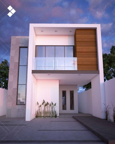 Fachada interior CDR CONSTRUCTORA Casas modernas