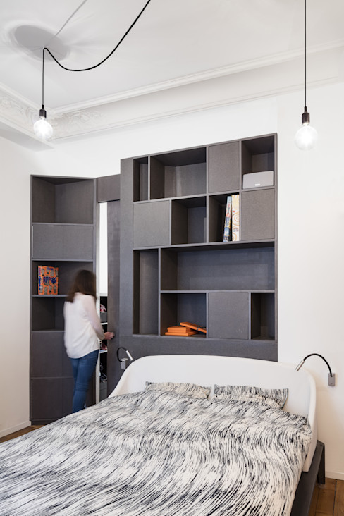 Appartement XIV STUDIO RAZAVI ARCHITECTURE Chambre moderne