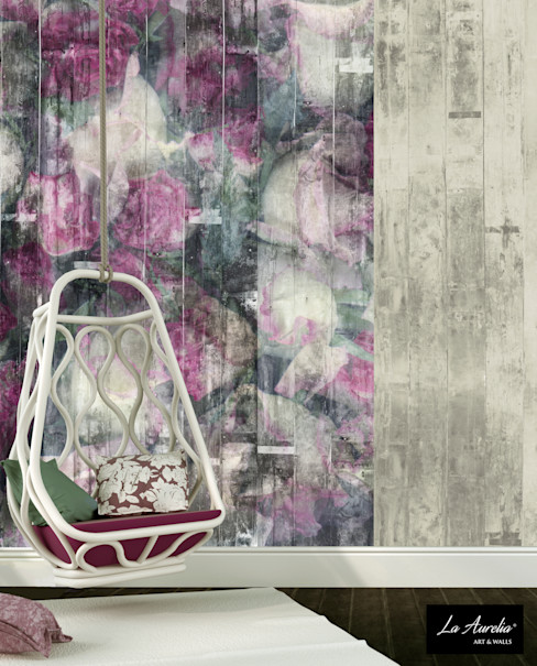 La Aurelia Dinding & Lantai Gaya Rustic Pink