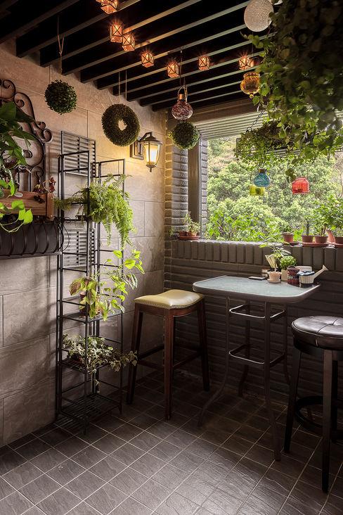大晴設計 - 微莊園 大晴設計有限公司 Country style balcony, veranda & terrace