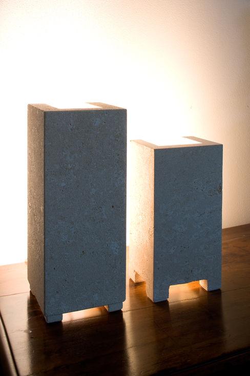 oro stonebreakers Soggiorno moderno Pietra Bianco