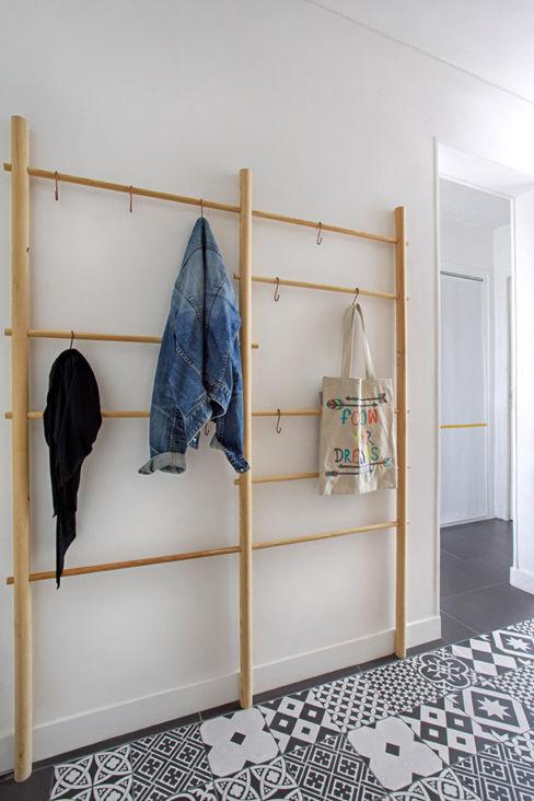 Le couloir a une vraie fonction MON OEIL DANS LA DECO Couloir, entrée, escaliers scandinaves
