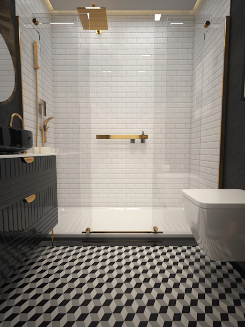 Konut 1+0 Boraevgar İskandinav Banyo Seramik Beyaz