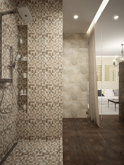 townhouse in modern style Rubleva Design Modern Bathroom
