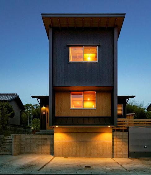 磯村建築設計事務所 現代房屋設計點子、靈感 & 圖片 鐵/鋼 Black