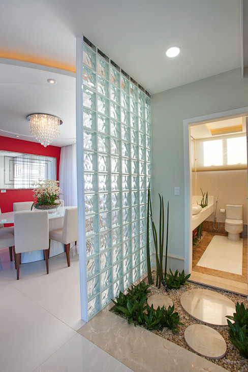 Casa Damha homify Banheiros modernos Mármore Bege