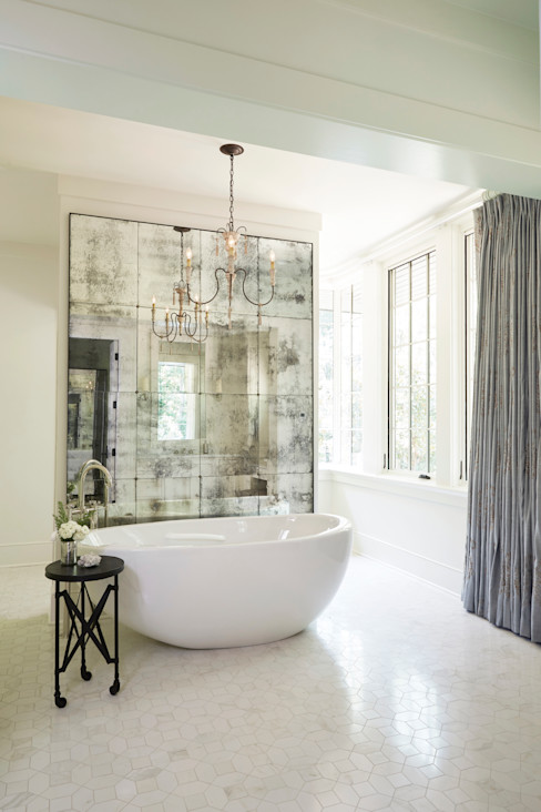 French Normandy Indian Springs Home Christopher Architecture & Interiors Classic style bathroom