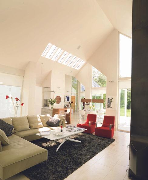 Award winning contemporary house in Co Antrim Jane D Burnside Architects Modern Living Room