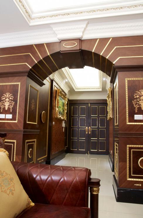 傑德空間設計有限公司 Mediterranean style corridor, hallway and stairs چپس بورڈ