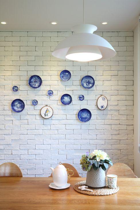지호도시건축사사무소 Dining roomCrockery & glassware MDF Blue