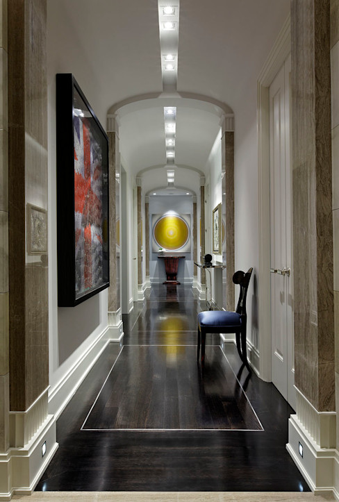 Hallway Douglas Design Studio Classic style corridor, hallway and stairs