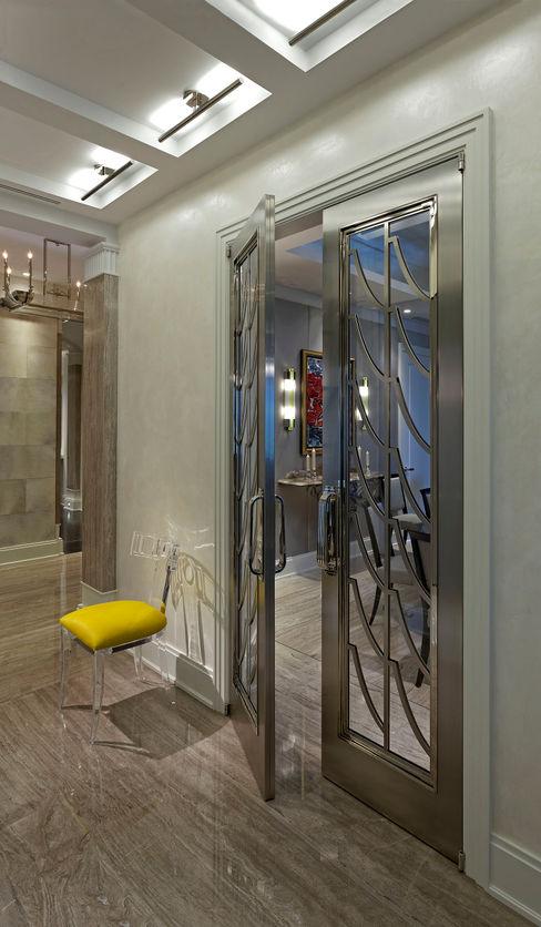Art Deco Doors Douglas Design Studio Classic style corridor, hallway and stairs
