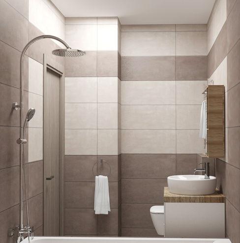 Yana Ikrina Design Eclectic style bathroom Tiles Beige