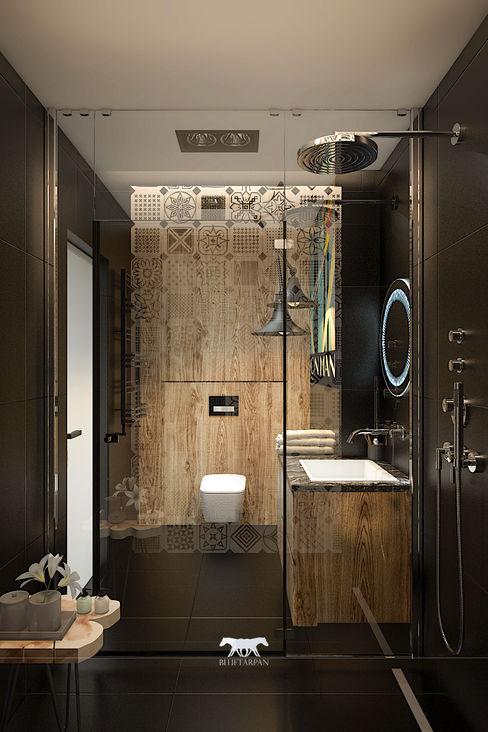 Bathroom BLUETARPAN Eclectic style bathroom Wood Black
