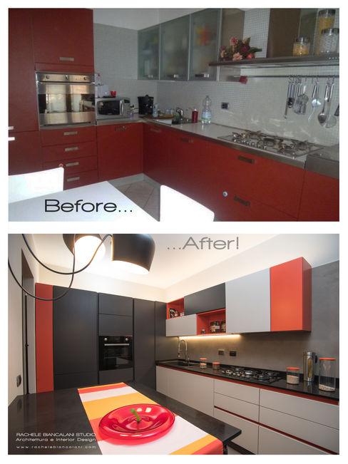 Prima e Dopo in cucina: resina e colore Rachele Biancalani Studio