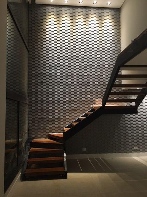 Escada Arquitetura CR Salas de estar modernas