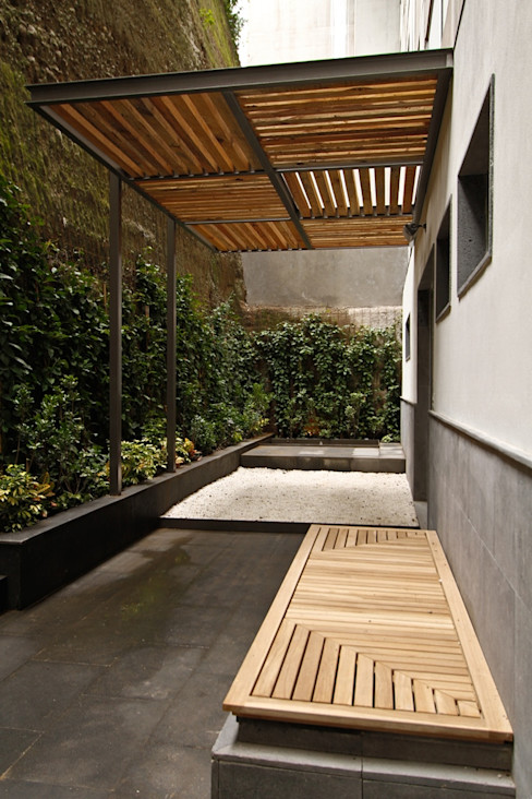 Residencial Vista Sol Mobiliario y Equipo MEE Balcones y terrazas eclécticos