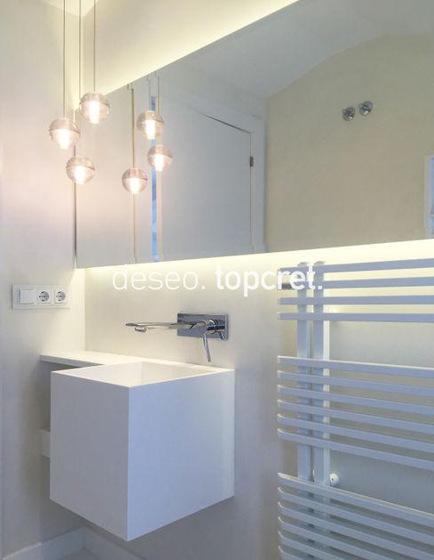 Microcemento® Color Blanco Roto Topcret Baños de estilo moderno Blanco