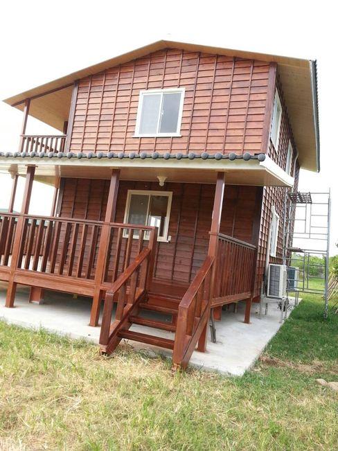 自地自建-鋼構木屋農舍 homify Country style houses