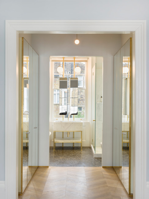 View from dressing room to bathroom Gundry & Ducker Architecture Eclectic style bathroom
