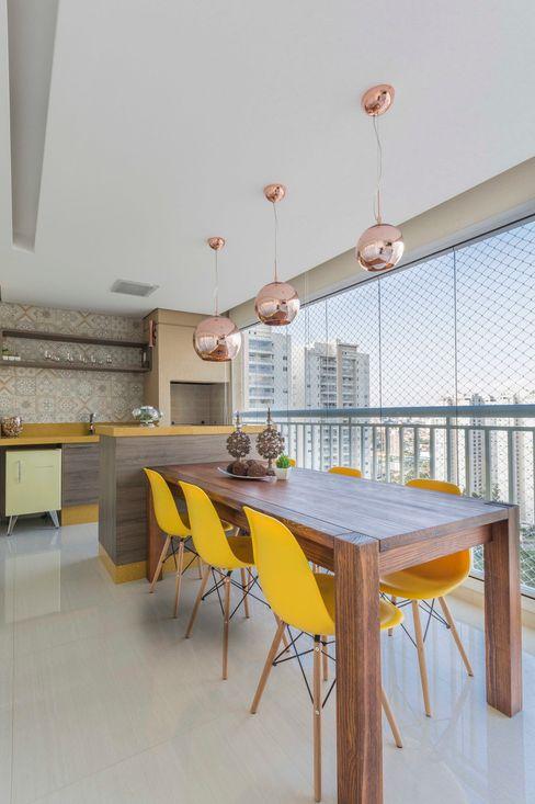 Terraço Gourmet Silvana Borzi Design Varandas, alpendres e terraços modernos