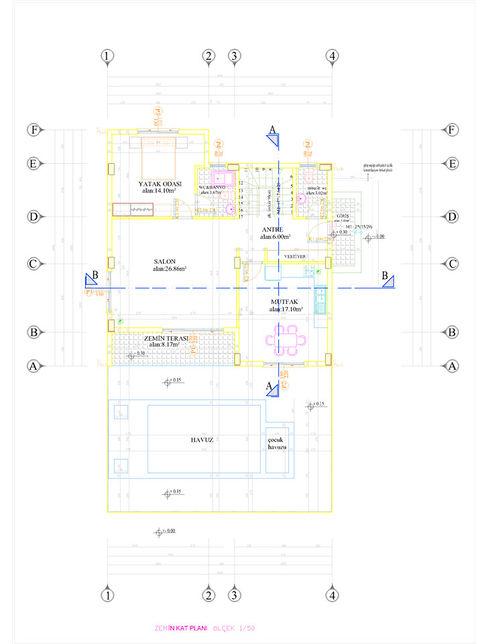 zemin kat plan Omc Mimarlık İnşaat