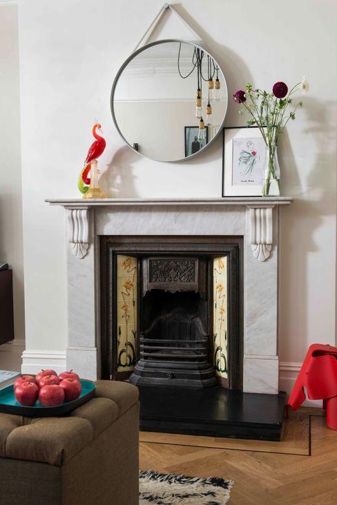 Whitehall Park Residential SWM Interiors & Sourcing Ltd 거실벽난로 & 액세서리 대리석