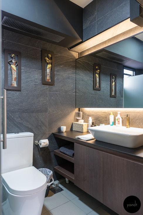 Y&T Pte Ltd Baños de estilo asiático Azulejos Gris