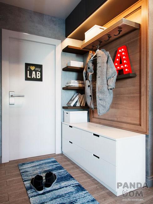 Экономичный лофт дизайн-студия PandaDom Коридор, прихожая и лестница в стиле лофт