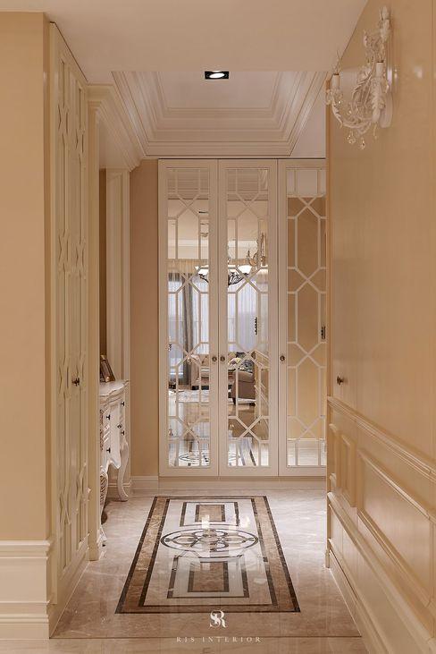 理絲室內設計有限公司 Ris Interior Design Co., Ltd. Corridor, hallway & stairsStorage Beige