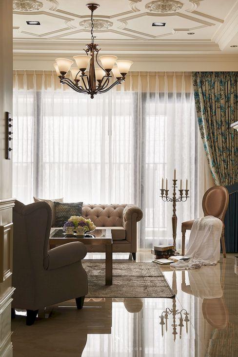 理絲室內設計有限公司 Ris Interior Design Co., Ltd. غرفة المعيشة Beige