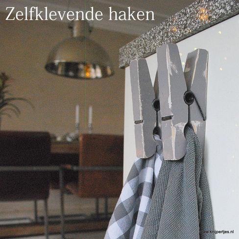 Keuken haken Knijpertjes.nl KeukenAccessoires & textiel Hout Grijs