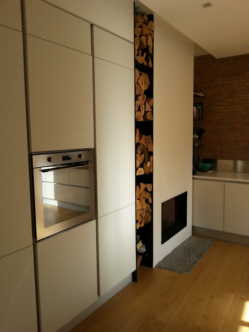 Andrea Magnoni Architetto Minimalist kitchen Bricks White