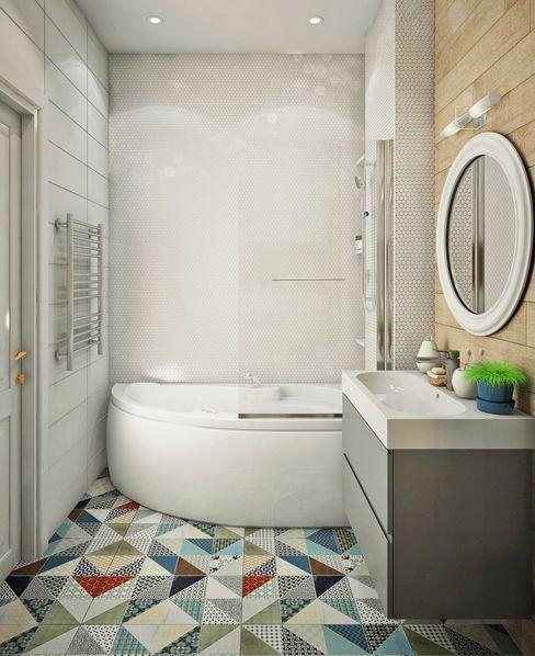 Ирина Рожкова - частный дизайнер интерьера Scandinavian style bathroom Ceramic Multicolored