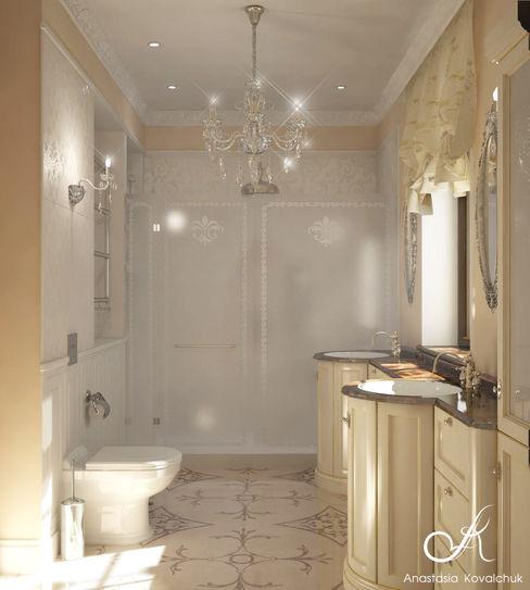 Design studio by Anastasia Kovalchuk Baños de estilo clásico