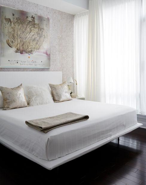 Bedroom Douglas Design Studio BedroomBeds & headboards White