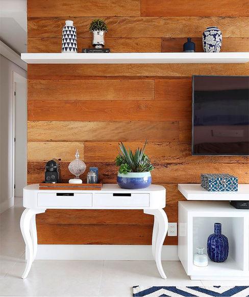 Aparador 120 Oval Cabriolet Branco Move Móvel Criação de Mobiliário Sala de estarBancadas e bandejas Madeira Branco