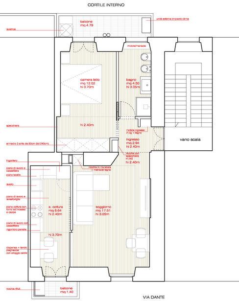 planimetria dell'appartamento M2Bstudio