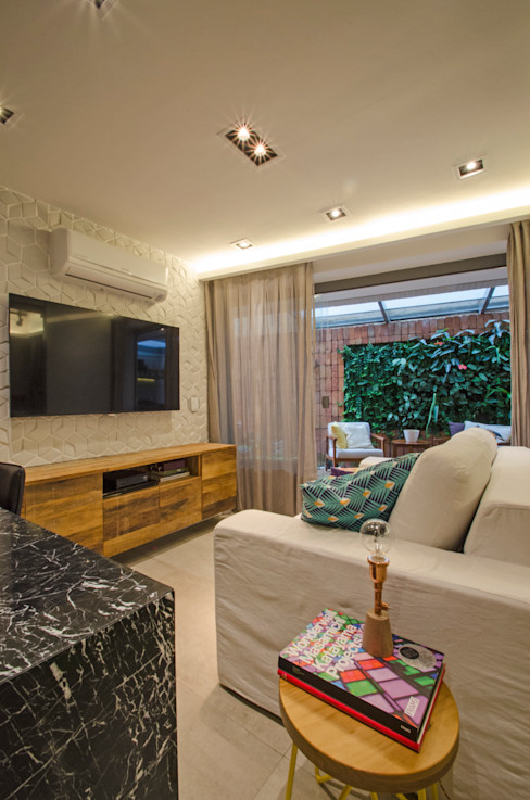 PKB Arquitetura Modern living room
