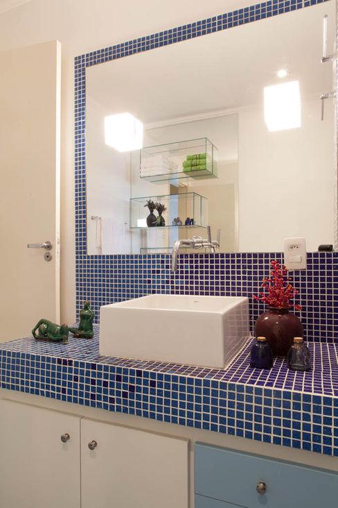 RK Arquitetura & Design BathroomSinks Ceramic Blue
