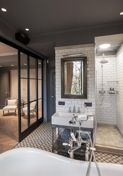Bathroom Hampstead Design Hub Industrial style bathroom Grey