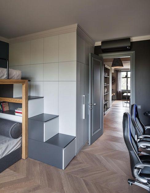 Kid's Room Hampstead Design Hub Industrial style nursery/kids room Grey