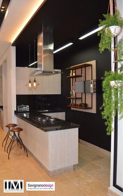 Diseño y construccion (Reforma y remodelacion) - Apto de soltero - Barranquilla Savignano Design Cocinas de estilo industrial