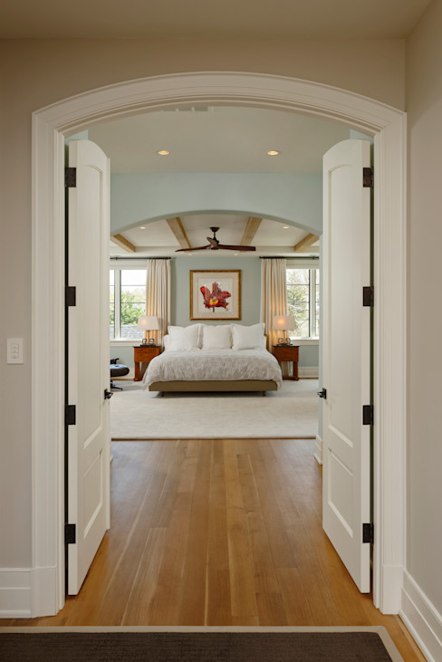 Fire Restoration in Chevy Chase Creates Opportunity for Whole House Renovation BOWA - Design Build Experts اتاق خواب