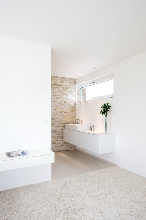 modernes Badezimmer wir leben haus - Bauunternehmen in Bayern Moderne Badezimmer