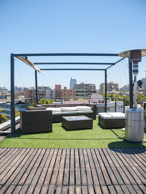 Penthouse Triplex · Barrio Italia Francisco Vicuña Balaresque Balcones y terrazas industriales